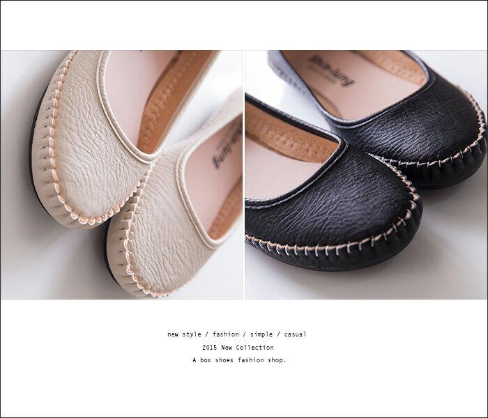 格子舖*【AIDPN216】MIT台灣製 嚴選車線舒適超柔軟平底豆豆鞋 走路鞋 休閒鞋 4色 2