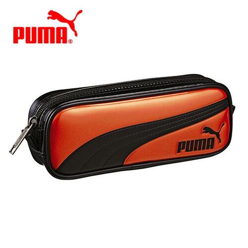 sightme看過來購物城:橘黑款【日本正版】PUMA筆袋鉛筆盒防潑水-129780