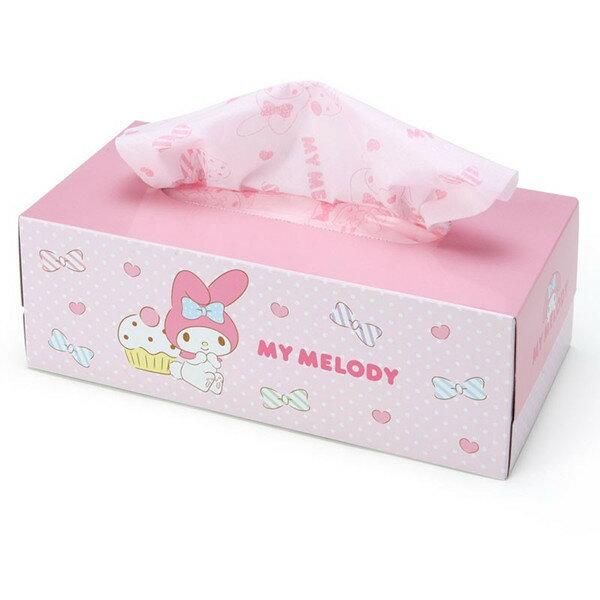 X射線【C210958】美樂蒂Melody 盒裝面紙,抽取式衛生紙/平版衛生紙/衛生紙/衛生棉/濕紙巾/紙巾