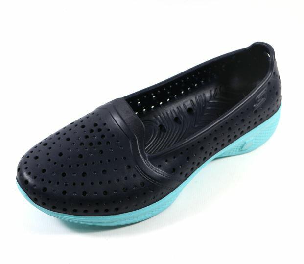 SKECHERS (女) 健走系列 H2GO 透氣洞洞鞋 - 14690NVBL 深藍/水藍