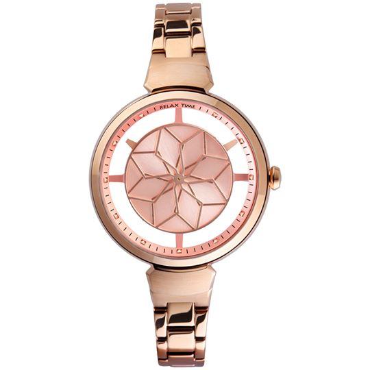 Relax Time 綻放系列玫瑰金腕錶