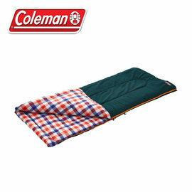 《台南悠活運動家》Coleman 5℃格紋刷毛睡袋 信封型睡袋 化纖睡袋 纖維睡袋 可全開 26649 26650