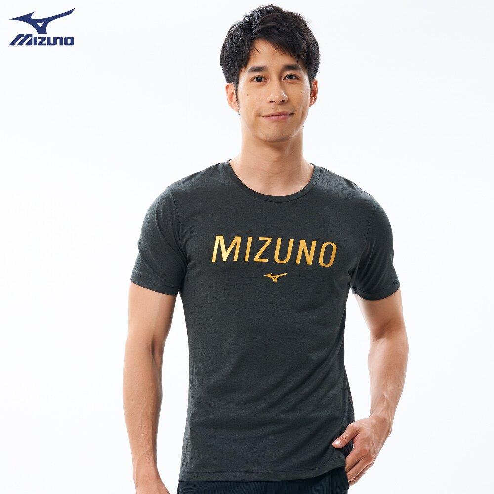 MIZUNO 美津濃 男 運動上衣 短袖T恤 合身版型 32TA001109 灰黑 (B4)【陽光樂活】