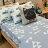 Blue cat 藍貓【床包藍底白三角形】單人/雙人熱賣組   舒適磨毛布 台灣製造 3