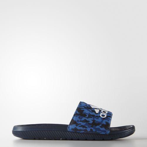 Adidas Voloomix Camo Slides 男鞋 拖鞋 運動 藍 白 迷彩 【運動世界】 AQ2575