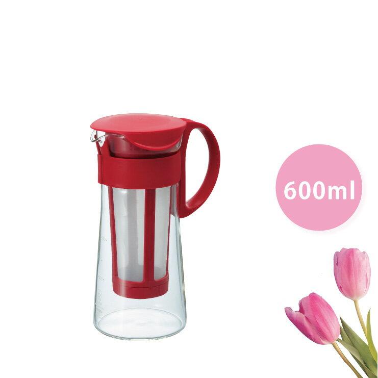 HARIO 迷你冷泡咖啡壺-紅色 600ml/MCPN-7R