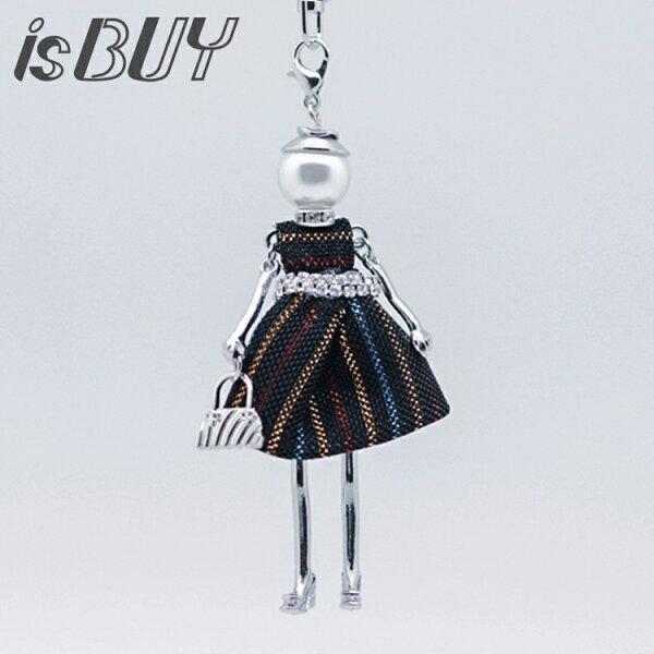 又敗家@日本MIOOGGI逛街娃娃鑰匙圈禮品趣味風包包吊飾精緻吊飾娃娃吊飾包包裝飾物精緻鑰匙圈