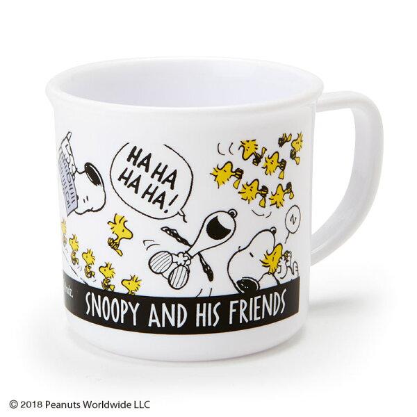 【真愛日本】18081400028塑膠水杯200ml-SN朋友ADE史努比snoopy塑膠水杯水杯杯子