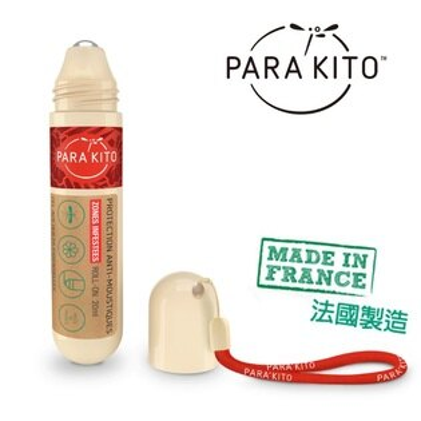 免運市場低價↘$499法國Para'Kito帕洛滾珠式天然精油防蚊液【寶貝樂園】