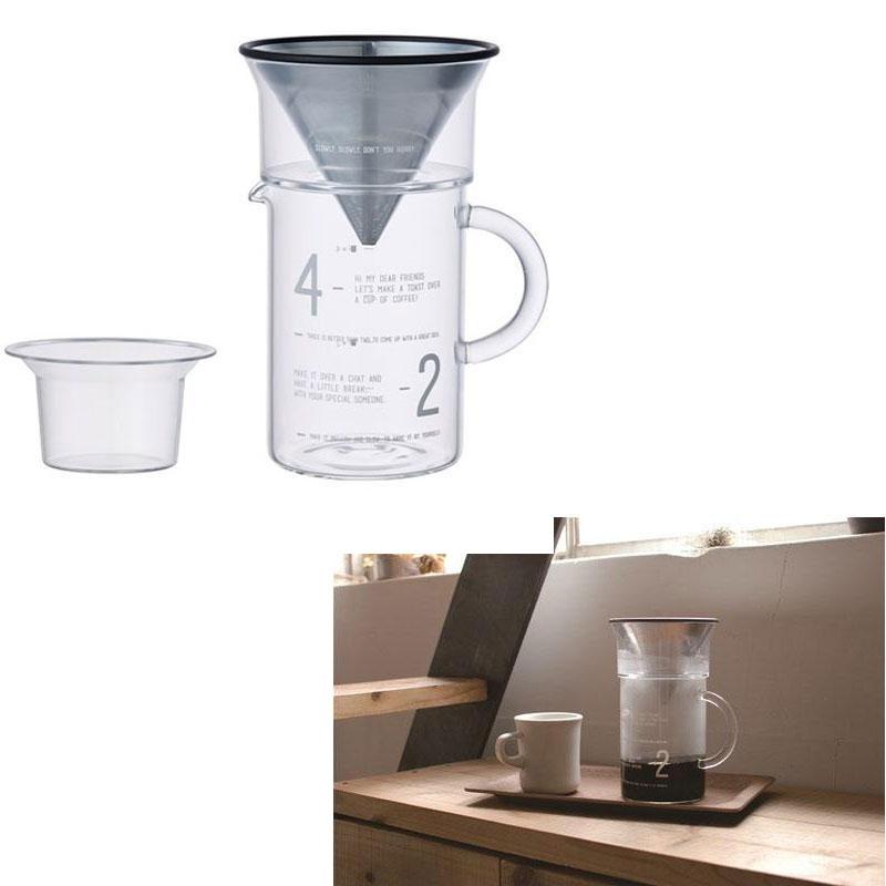 KINTO 金屬濾網 600ml 四件式手沖咖啡壼 四人份 4CUPS 日本帶回 免耗材