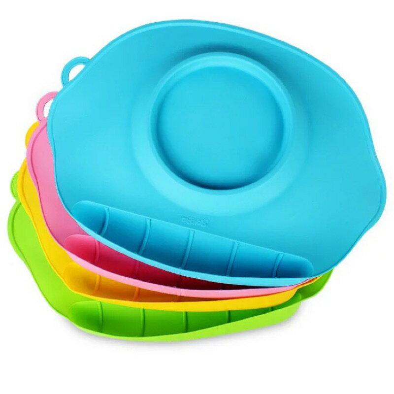 限時特價**️寶寶抗菌矽膠餐盤/可摺疊不易變形方便攜帶/寶寶餐具