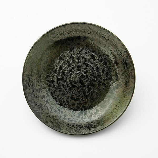 圓盤 17cm MT-59綠吹天目 NITORI宜得利家居 2