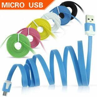 **特價3C**Micro usb 智慧型手機扁平充電線 傳輸線 彩色傳輸線 雙彩撞色麵條 數據線 htc 三星 NOTE 2 MOTO S2 S3 nokia 亞太