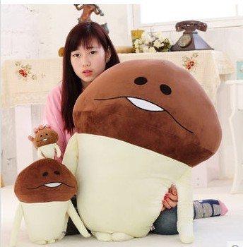 正版尾單~日本app遊戲~ Funghi 方吉 蘑菇人 種香菇人 栽培 香菇人 超大抱枕 毛巾絨娃娃 玩偶 (40c m)
