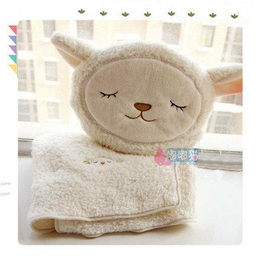 ^~^~露娜寢具^~^~超萌羊咩咩 抱枕被 羊駝 綿羊 小羊毛毯 抱枕批毯兩用被 空調被.