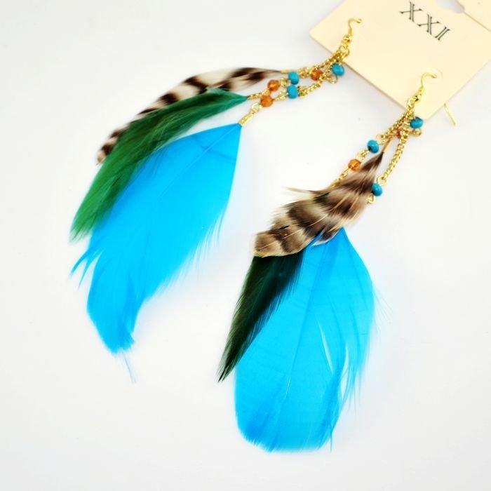 **露娜精選外貿飾品**限量特價 歐美尾單民族風 流蘇 羽毛 耳環