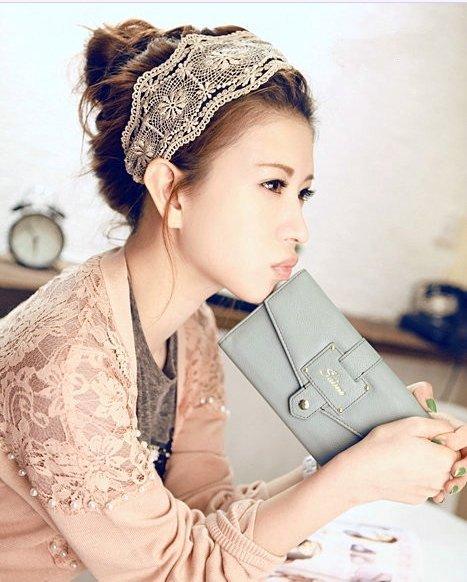 ﹨﹨Moshi moshi 韓版甜美寬版蕾絲髮帶髮箍髮圈?