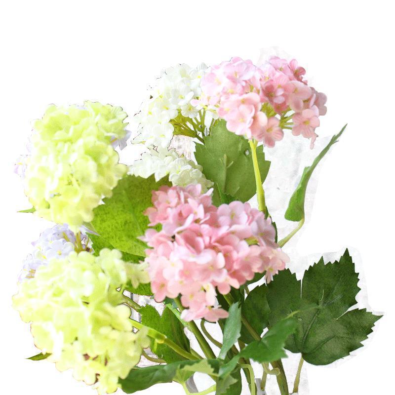 長支繡球花仿真花絹花影樓拍攝道具酒店裝飾落地插花裝飾花假花1入
