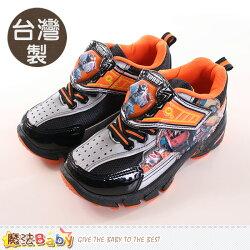 男童鞋 台灣製機器戰士正版閃燈運動鞋 魔法Baby~sa76308