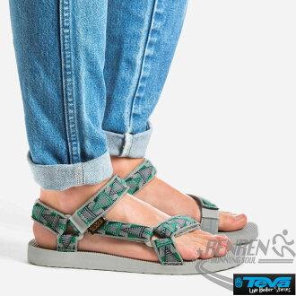 TEVA 男運動涼鞋 ORIGINAL SANDAL (圖騰綠) 經典復刻 抗菌效果
