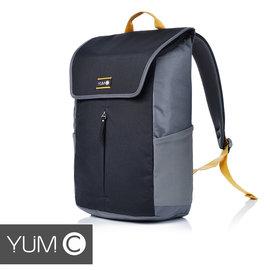 【美國Y.U.M.C.URBS系列STR'T可入15吋筆電防潑水休閒後背包-紳士黑】電腦包雙肩包通勤包可容納15吋筆電平板【風雅小舖】