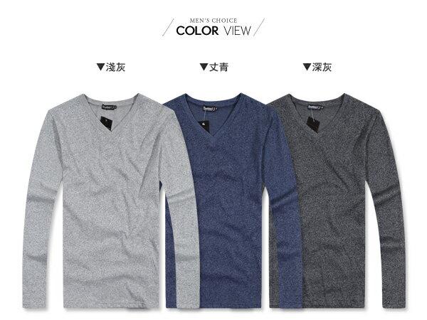 ☆BOY-2☆【JN7602】V領素面針織男裝長袖上衣 1