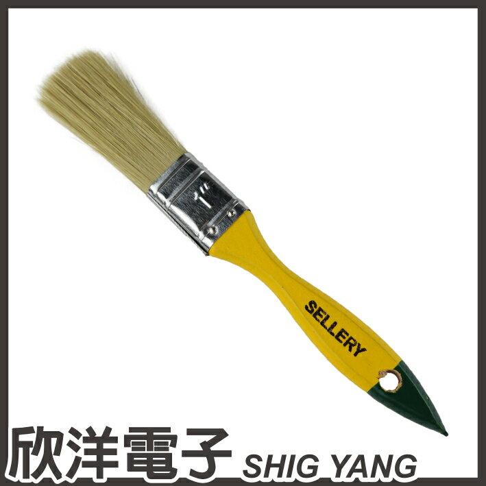 ※ 欣洋電子 ※ SELLERY 舍樂力 長毛木柄油漆刷1號 (S31-151)