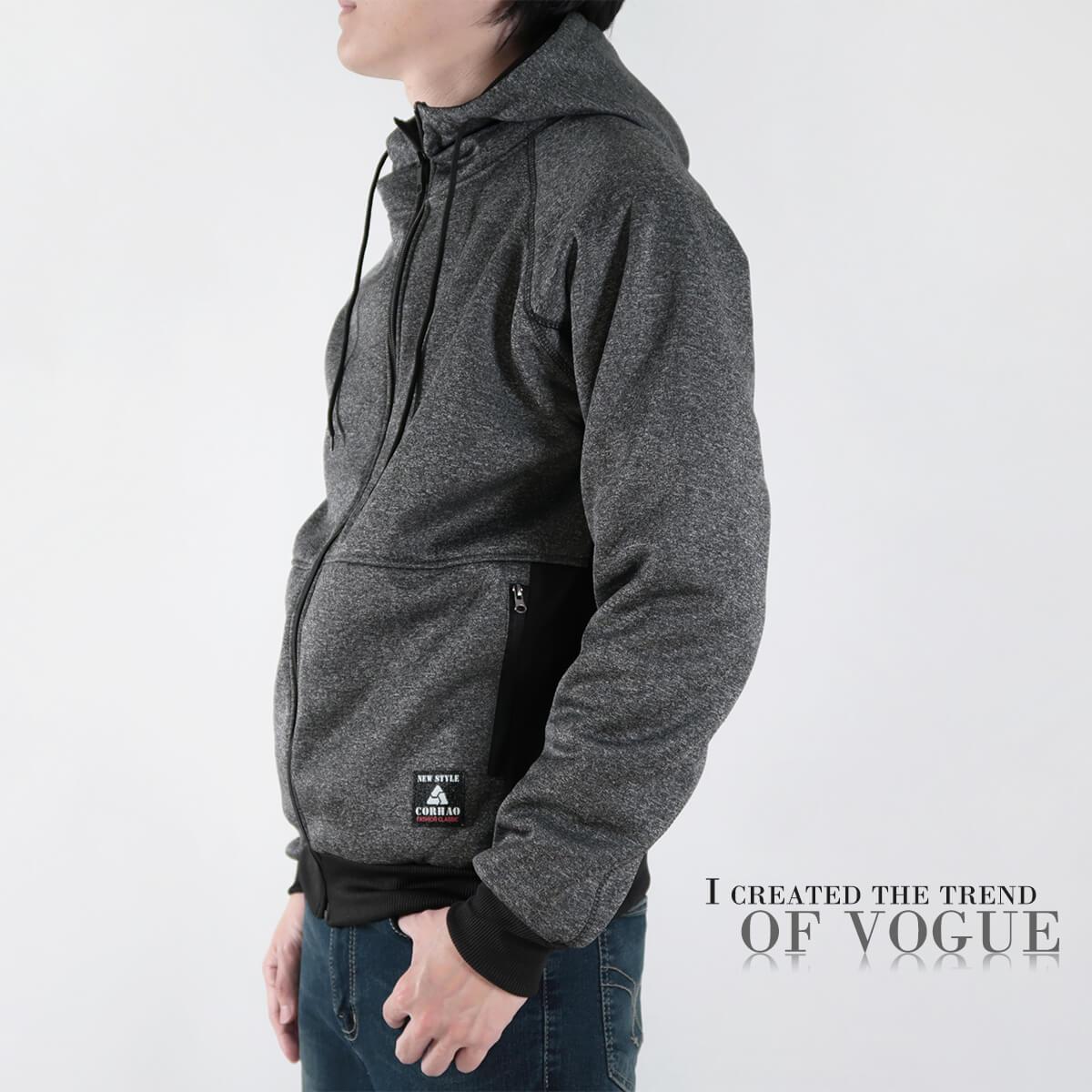 內刷毛連帽保暖外套 夾克外套 運動外套 休閒連帽外套 刷毛外套 黑色外套 時尚穿搭 WARM FLEECE LINED JACKETS (321-8916-01)淺灰色、(321-8916-02)深灰色、(321-8916-03)黑色 L XL 2L(胸圍46~50英吋) [實體店面保障] sun-e 3