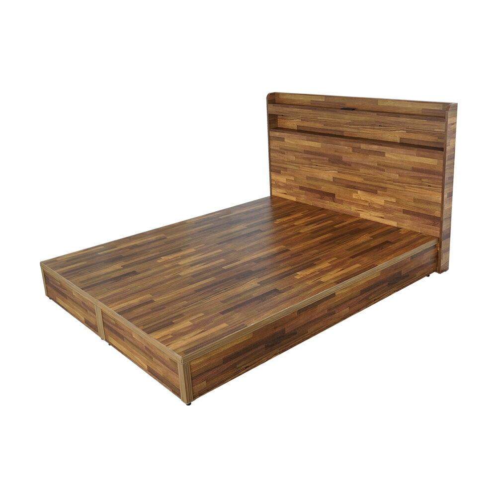 宮野日式床組(不含床墊)-雙人5尺(積層木)❘床組/床台組/插座床組【YoStyle】