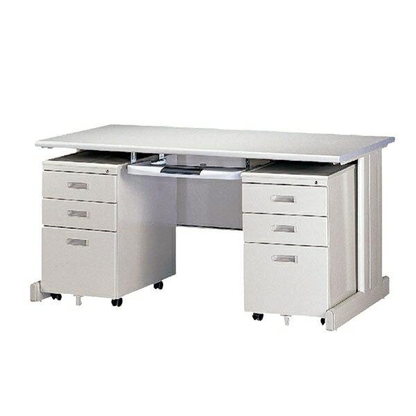 【YUDA】冷匣鋼板 全隧道式烤漆HU160  中抽  活動櫃 4件組/桌整組/辦公桌
