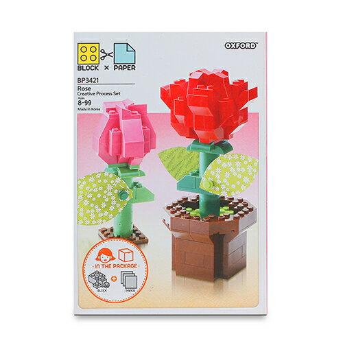 創意主題積木-花的世界 / BLOCK & PAPER FLOWER/ Oxford/ DIY/ 伯寶行