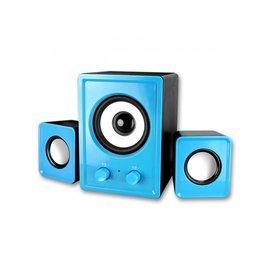 ~壹品家 館~耐嘉 KINYO USB 2.1立體擴大音箱 US~179 藍 紅兩色 低音