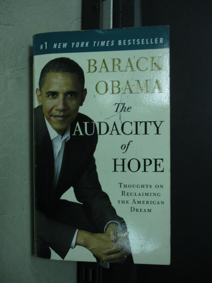 ~書寶 書T4/原文小說_KRG~The audacity of hope_Barack