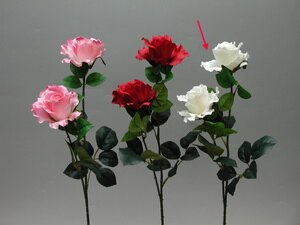 ★超低價★27吋 二花玫瑰-乳白 / 人造花 空間 景觀 佈置 造景