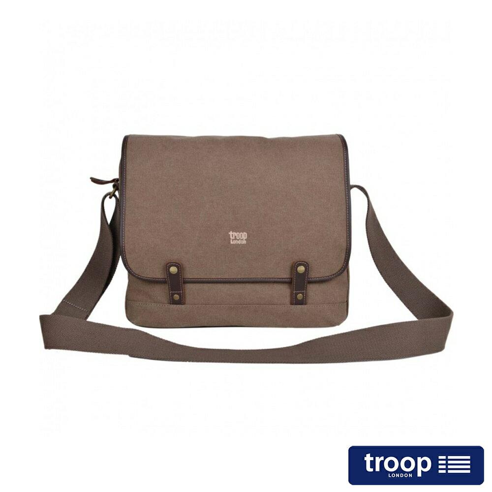 【TROOP】簡約質感HERITAGE斜背包/TRP0378BN