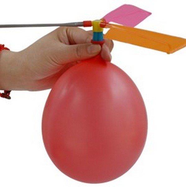 彩色 氣球直升機 氣球飛機/一大袋50組入(促20) 氣球竹蜻蜓 童玩-5337-