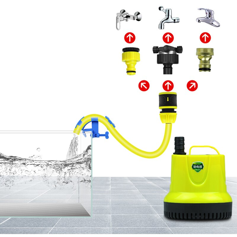 魚缸換水器 電動抽水軟管虹吸換水洗砂魚缸抽水泵吸魚便 雙十一