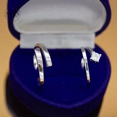 925純銀戒指鑽石開口戒~精緻古典絕代風華七夕情人節 女飾品2款73dt154~ ~~米蘭