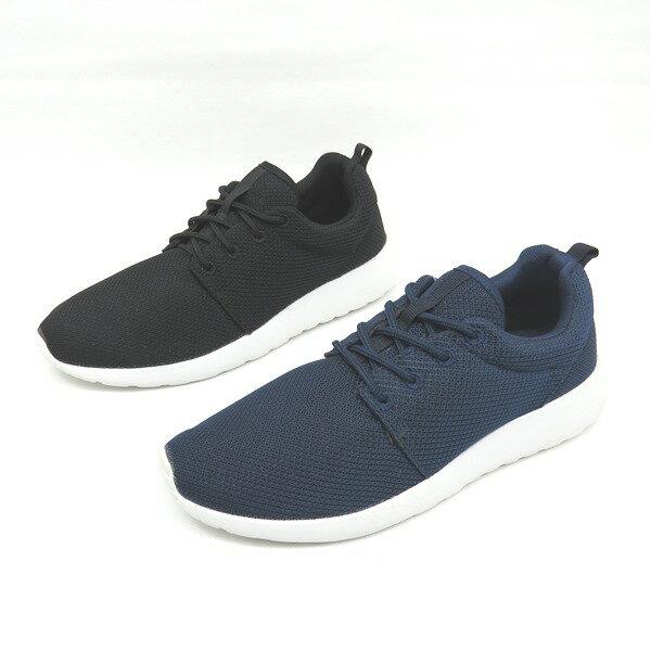 彩虹屋美鞋:*免運*男舒適透氣鞋帶輕量休閒運動慢跑鞋05-5097(黑藍)*[彩虹屋]*現+預