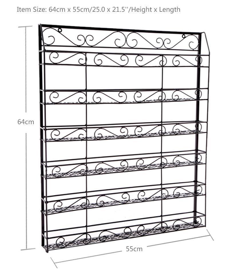 Wire Display Organizer Metal Nail Polish Rack Black 5