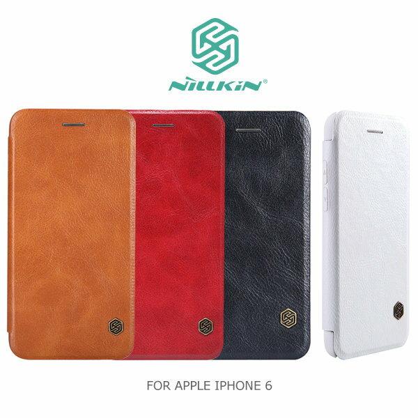 NILLKIN APPLE iPhone 6 4.7吋 i6 iP6 IP6S 秦系列側翻皮套 可插卡 保護套 手機皮套 側掀 禮贈品 客製化/TIS購物館