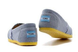 【TOMS】拼色藍黃休閒平底鞋 1