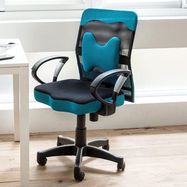 辦公椅 / 電腦椅 / 書桌椅 厚座高靠背網辦公椅(附腰墊)5色 MIT台灣製 現領優惠券 完美主義 【I0207-A】 0