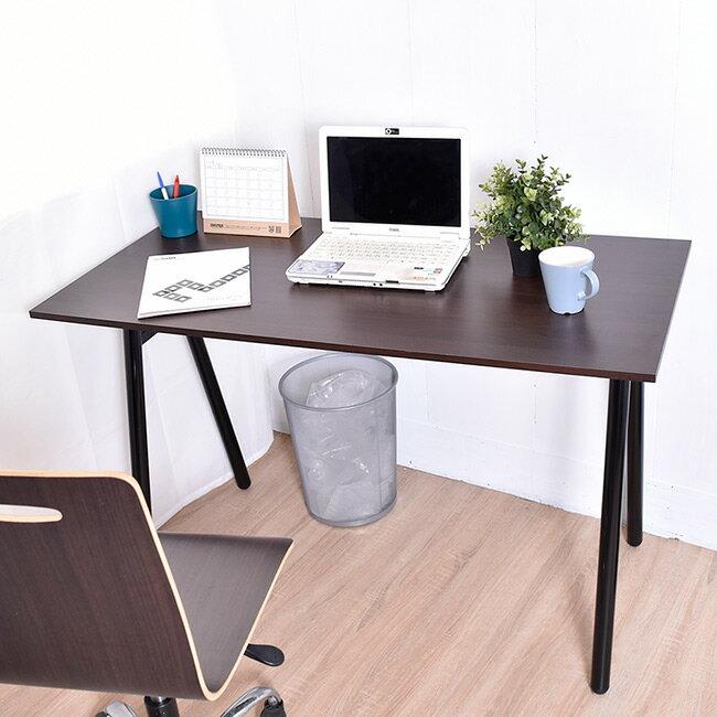 凱堡 桌子書桌 A字工作桌電腦桌(胡木)【B13045】