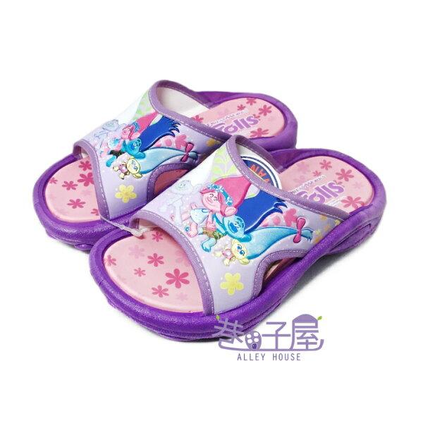 【巷子屋】魔髮精靈童款造型休閒拖鞋[69347]紫MIT台灣製造超值價$100