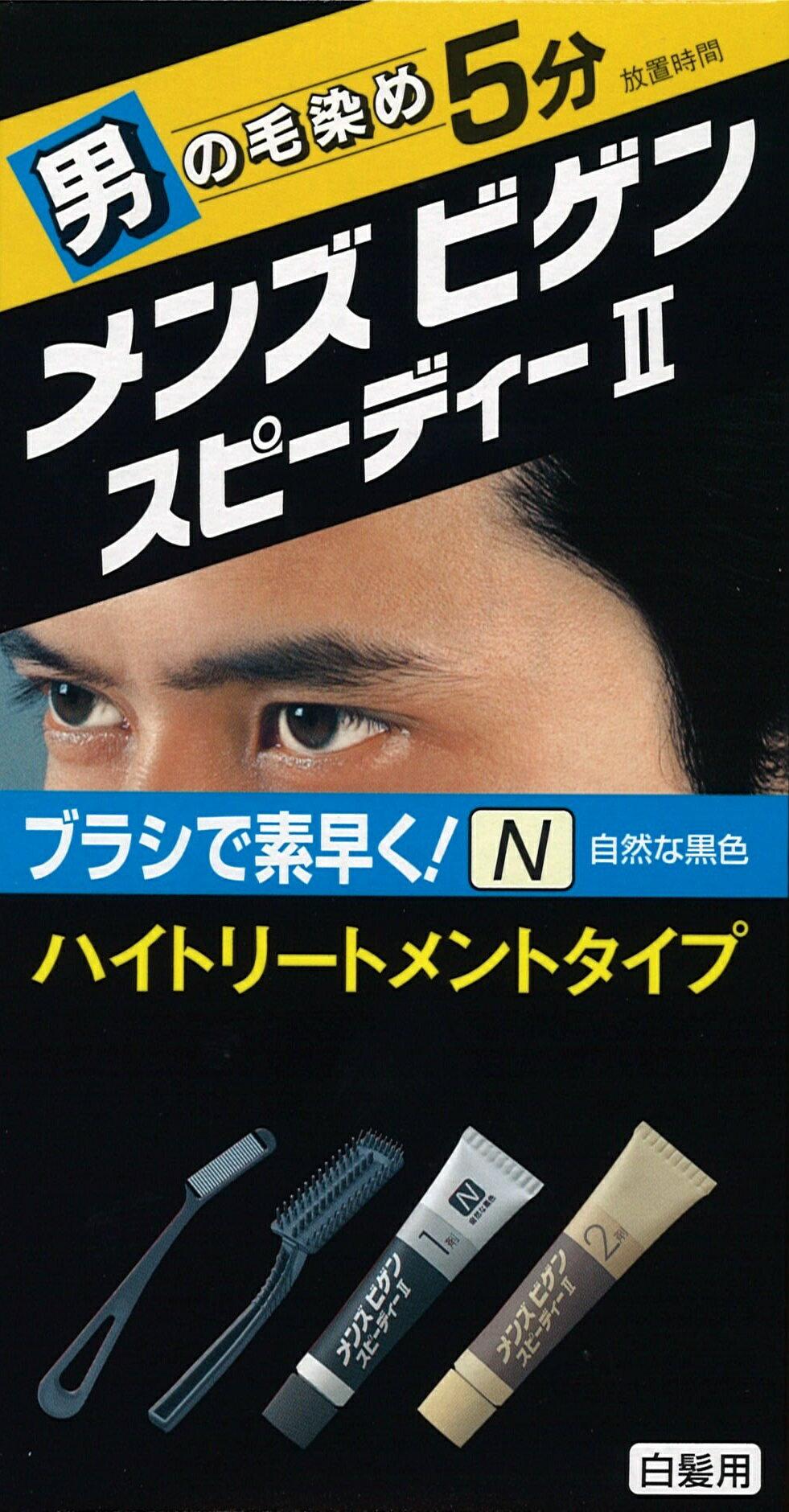 Men's Bigen美源男士 彩絲快速染髮霜【N】自然黑色 - 限時優惠好康折扣
