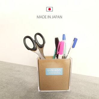 日本製 透明收納盒 壓克力收納 桌面 收納 筆桶 雜物桶雜物筒 文具收納【SV3149】快樂生活網