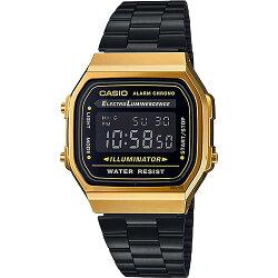 【東洋商行】免運 CASIO 卡西歐 Digital 經典電子錶-黑金 A-168WEGB-1BDF  原廠公司貨 附保證卡 保固期一年