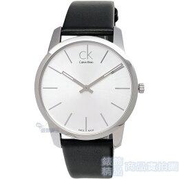 手錶 Calvin Klein 經典時尚 白面 皮帶