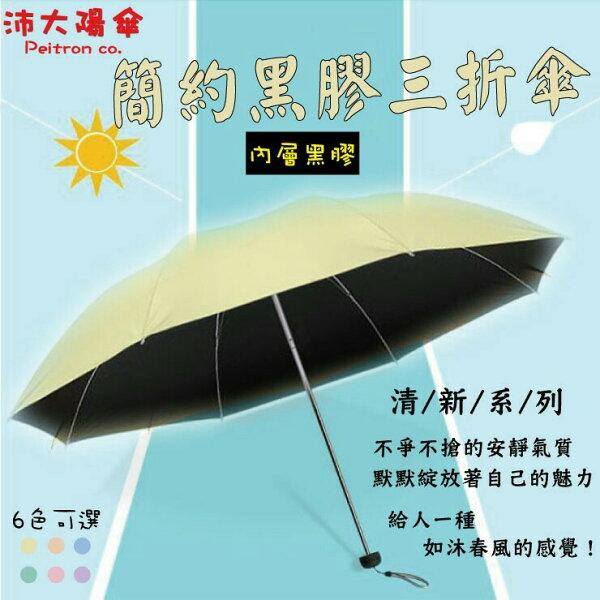 《沛大陽傘》全自動傘內層黑膠擋紫外線晴雨傘包包小物遮陽一把罩輕量化【U08】